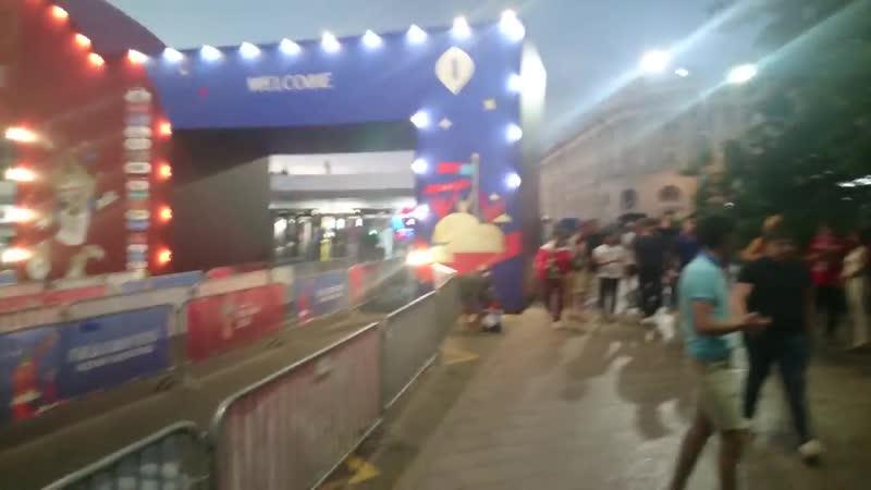 Эвакуация болельщиков с FIFA Fan Fest Nizhny Novgorod часть 2