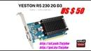 Видеокарта Yeston Radeon R5 230 GPU 2 ГБ ОЗУ GDDR3 64 бит 2018