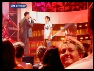 Gregory  Lemarchal  & Sofiane - Mon frere (Star Academy 2004 - Prime).MPG