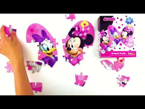 How to do a Minnie Mouse and Daisy Duck shaped puzzle!