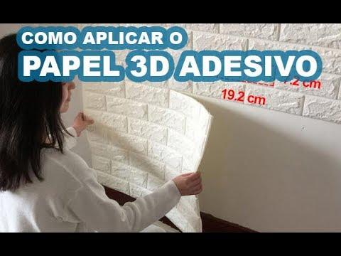 Aprenda a colocar o papel de parede 3D adesivo