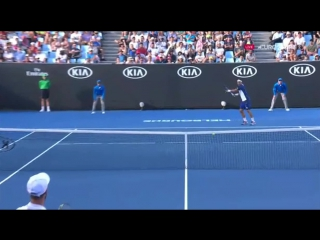 Косой короткий форхэнд Фабио (Fognini-Paire hot shot at Australian Open 2017)
