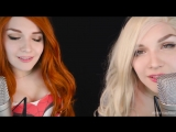 [ASMR KittyKlaw] ASMR? M♥uth Sound? TWIN MaryJane&GwenStacy K❣ssing, Breath❣ng?АСМР Звуки рта, поцелуи
