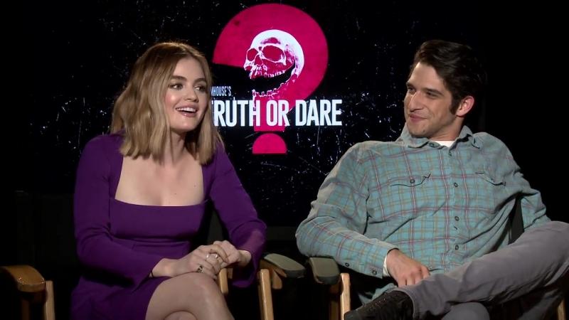 Blumhouse's Truth or Dare -- Lucy Hale Tyler Posey Junket Soundbites -- SocialNews.XYZ