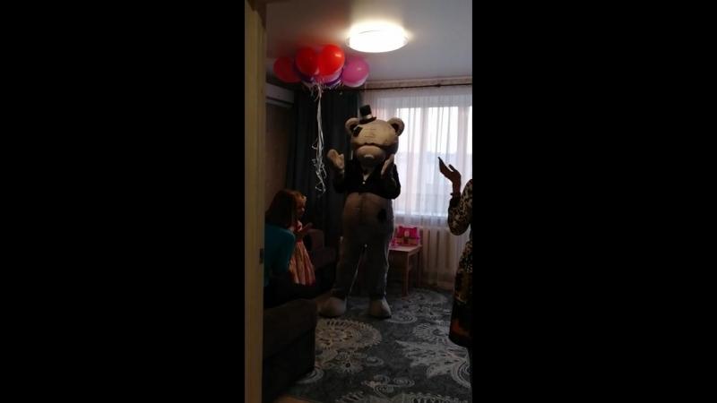 12.04.18 Поздравлялки от Мишки Тедди и гостей для Кирочки, 5 лет))