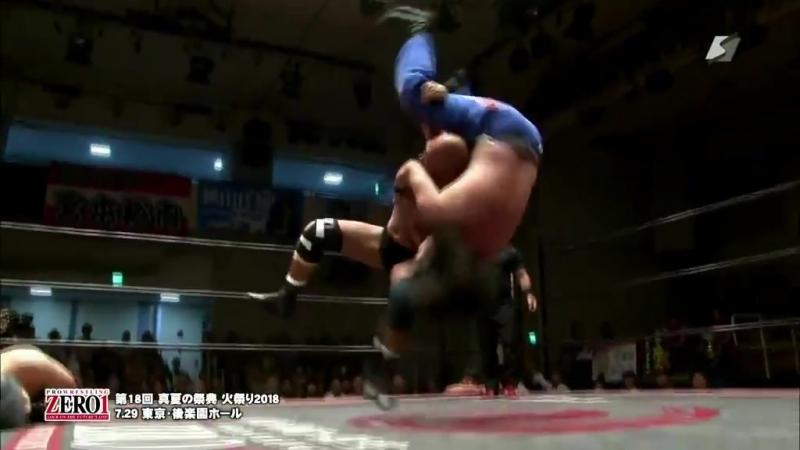 Isami Kodaka, Yoshikazu Yokoyama vs. Ikuto Hidaka, Tatsuhito Takaiwa (ZERO1 - 18th Annual Midsummer Fire Festival 2018 - Day 10)