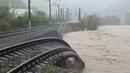 Размыв жд полотна Туапсе Греческий 25 10 18 he erosion of the railway at the Greek station