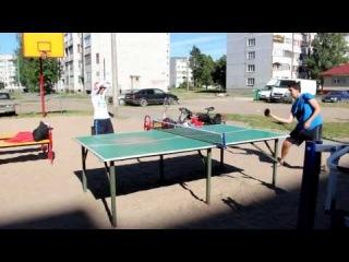 Теннис нашей доброй компании в Кингисеппе. 11 июля 2014 года