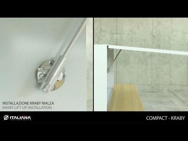 Монтаж и регулировка газовых мебельных лифтов KRABY и COMPACT (Italiana Ferramenta)