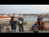 Уличные музыканты. Джаз №1 на Карловом Мосту.