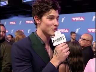 Shawn getting asked to do the In My Feelings challenge at the VMAs