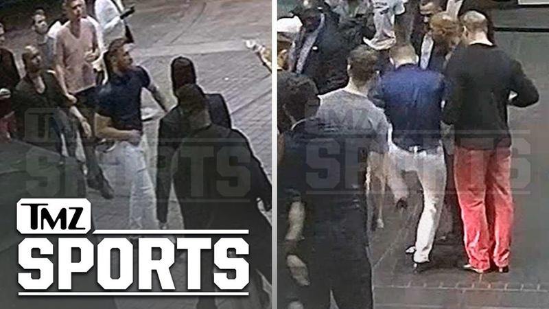 Опубликовано полное видео нападения Конора МакГрегора на британского фаната
