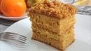 торт МЕДОВИК ПУХОВИК без раскатки коржей с заварным кремом со сливками