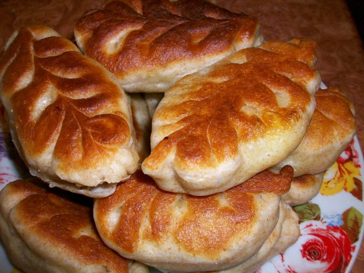 Пирожки из пресного теста с капустой в духовке пошаговый рецепт