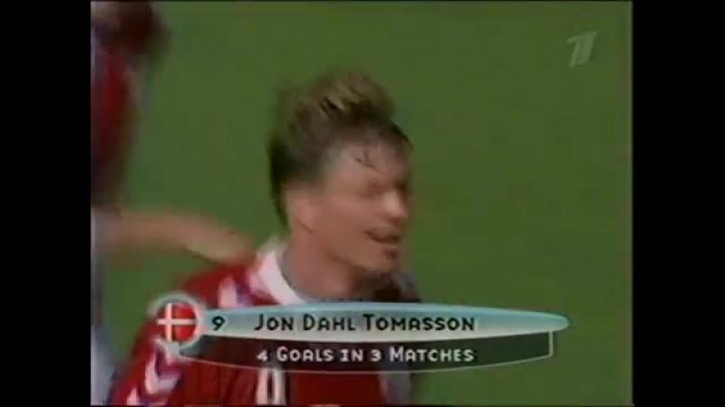 Йон Даль Томассон (Дания) - гол в ворота сборной Франции