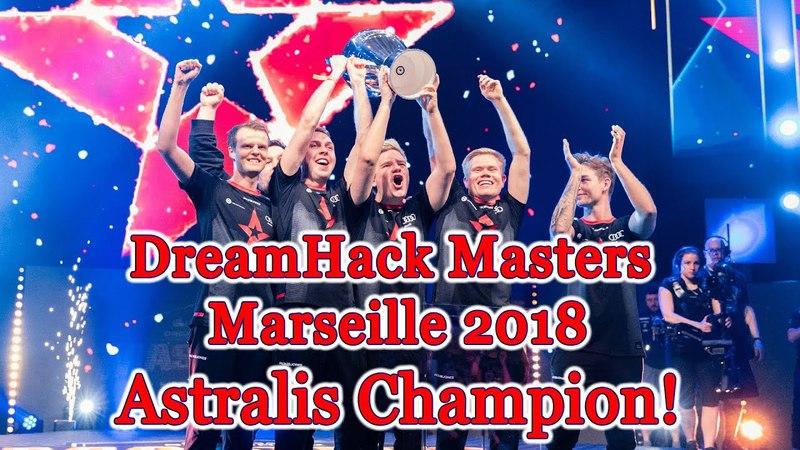 Astralis champion 🏆 DreamHack Masters Marseille 2018 champions Grand Final vs Na`Vi CyberWins