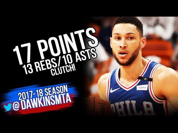 Ben Simmons Triple-Double 2018 ECR1 Game 4 Philadelphia 76ers vs Heat - 17-13-10! | FreeDawkins