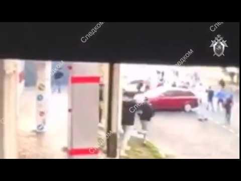 Кадры покушения на убийство людей в Москве