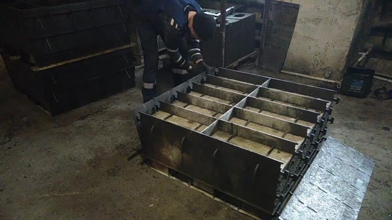 Уральский арболит. Распаковка высушенных в камере блоков