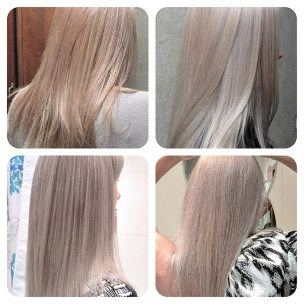 цвет волос перламутровый фото