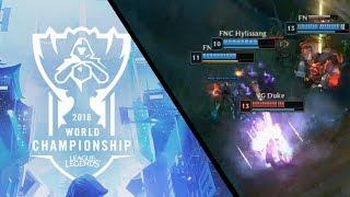 Duke insane Irelia double kill [2018 World Championship] | League of Legends
