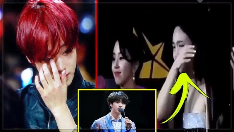 Idols crying during BTS Emotional Speech (MAMA 2018)