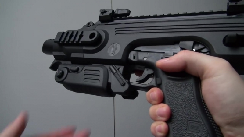 (Airsoft) CAA RONI Pistol-Carbine Conversion Kit (used with a Glock 18C Tokyo Marui) - KhanSeb.mp4