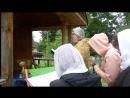Освящение часовни при стечении гостей и жителей с Посадников Остров