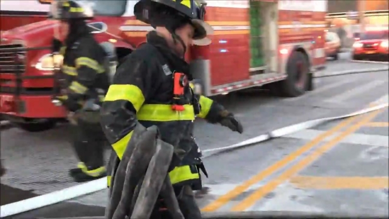 FDNY BATTLING A 7TH ALARM FIRE ON COMMONWEALTH AVENUE