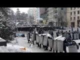 Разгон митинга на Грушевского 22.01.2014. Начало