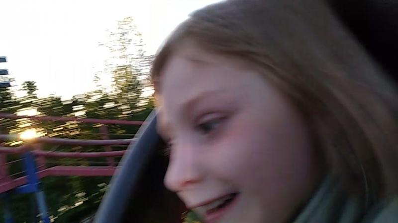 Рита впервые на бешеном поезде