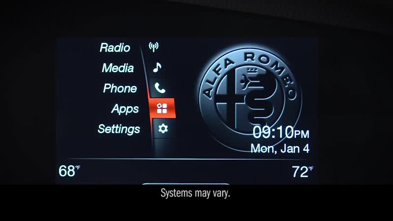 Information and Entertainment System - Using driving apps _ 2018 Stelvio _ Alfa
