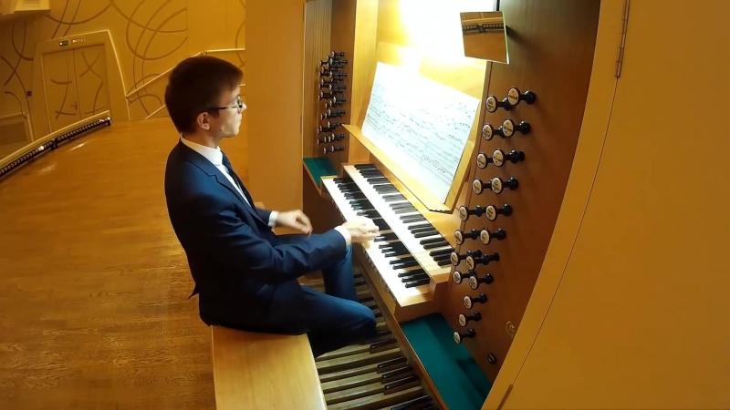 I. S. Bach Prelude in C major BWV 547 _ И. С. Бах Прелюдия до мажор
