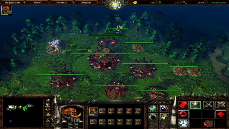 Warcraft 3 Земли бога 1 Осквернённые орки