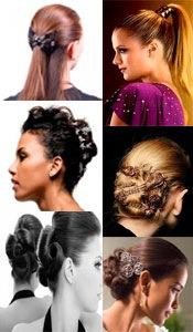 Прически на средние волосы с заколками прищепками 61