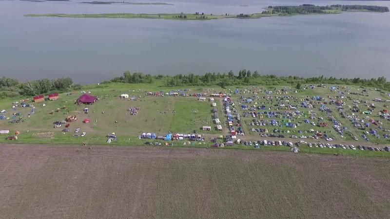 Полёт над Тридевятым Царством с поля на реку
