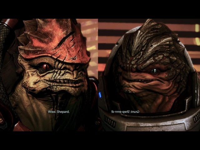 Grunt. Wrex. Shepard, Shepard, Shepard.