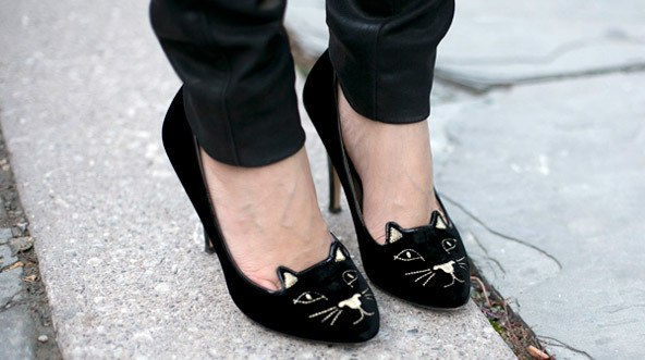 Туфли с кошками