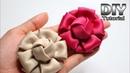 DIY - Tutorial Fabric Flower Satin Velvet   Bunga Hanna   Cara membuat bros bunga kain Patchwork