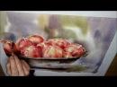 Äpfel Aquarell Präsentation Teil 3 von 4