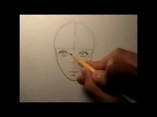 Как нарисовать лицо карандашом