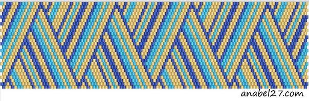 Схемы для мозаичных браслетов от