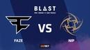 FaZe vs NiP, mirage, BLAST Pro Series Sao Paulo 2019