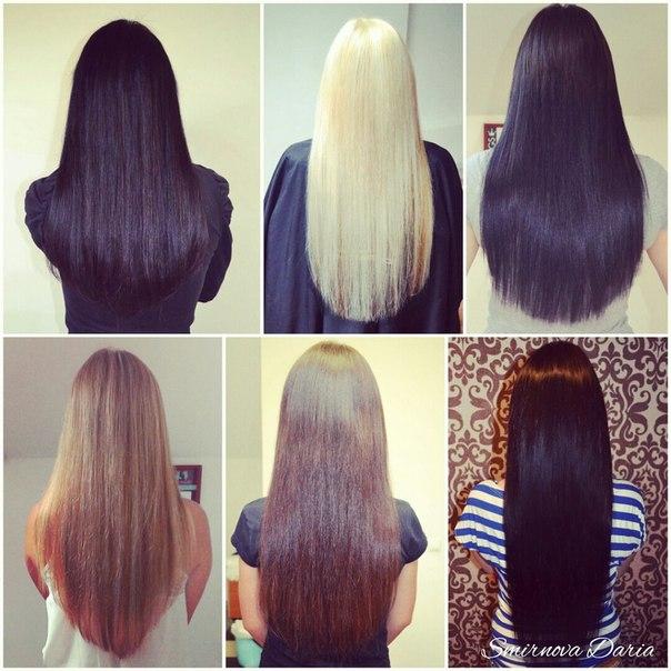 Придать форму длинным волосам стрижка до и