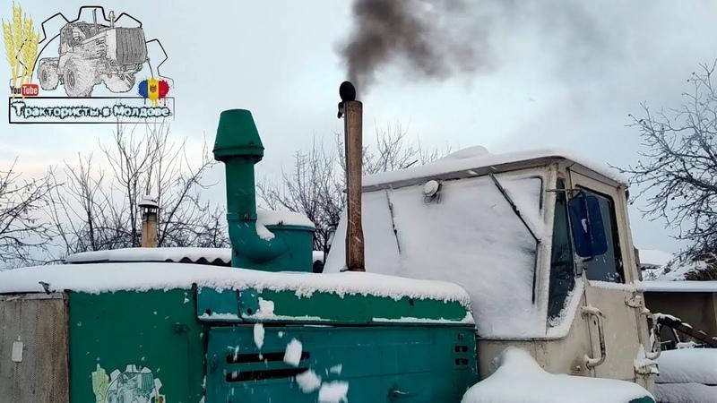 Запуск трактора Т-150к .Мороз.Показываю как у нас настроен Плуг ПЛН 5-35 /Moldova