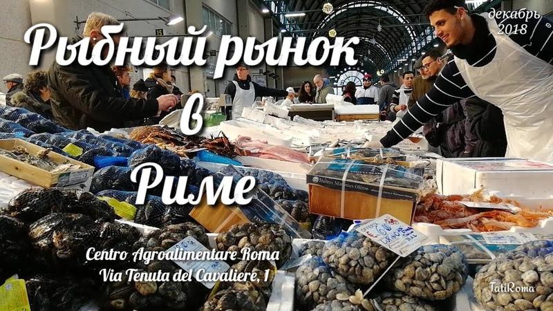 Рыбный рынок в Риме. Последние приготовления к Рождеству.......