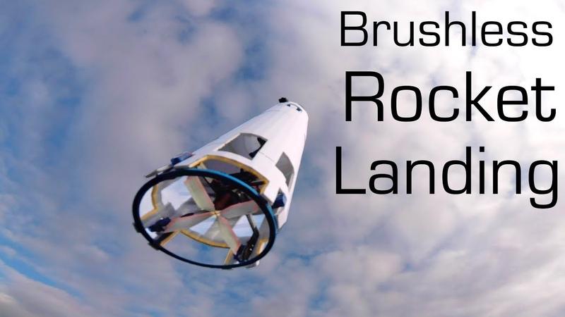 Brushless RC ROCKET Vertical Landing SpaceX Style - RCTESTFLIGHT