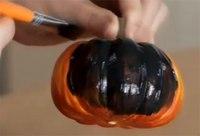 Как сделать летучую мышь из тыквы.