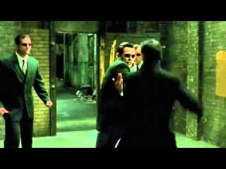 (Widescreen HQ Video) Matrix Reloaded 'Upgrades' (3 Agents vs Neo Fight).wmv