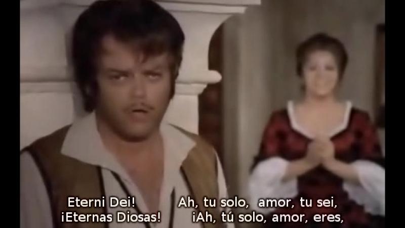 Teresa Berganza Hermann Prey Dunque io son de Il Barbiere di Siviglia de Rossini (subtítulos español e italiano)